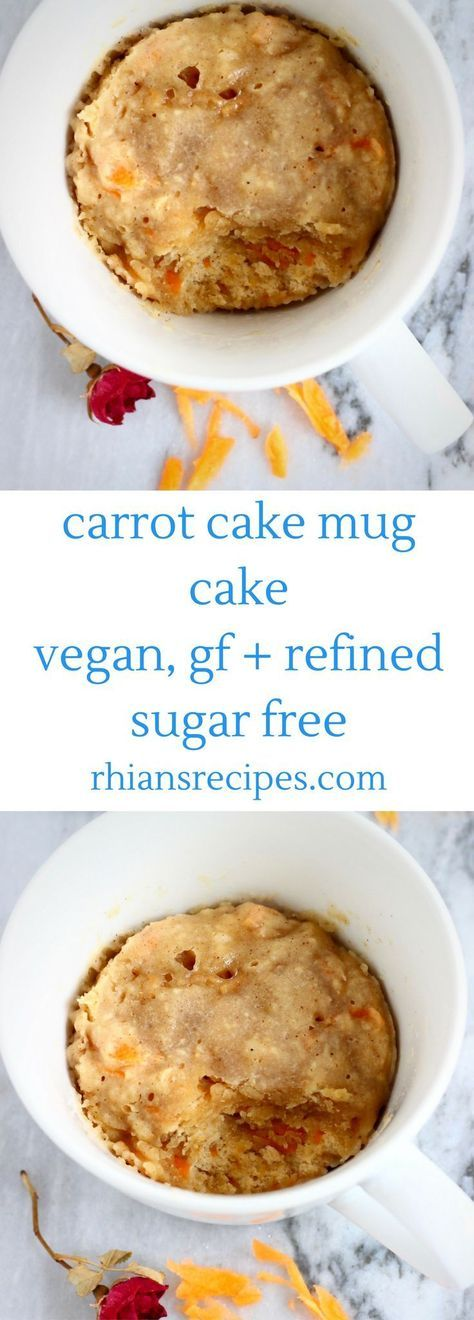 This Vegan Carrot Cake Mug Cake is super easy to make, can ...