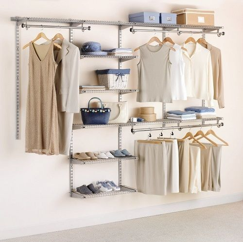 large closet organizer storage system clothes rack wardrobe hanger rh pinterest ca