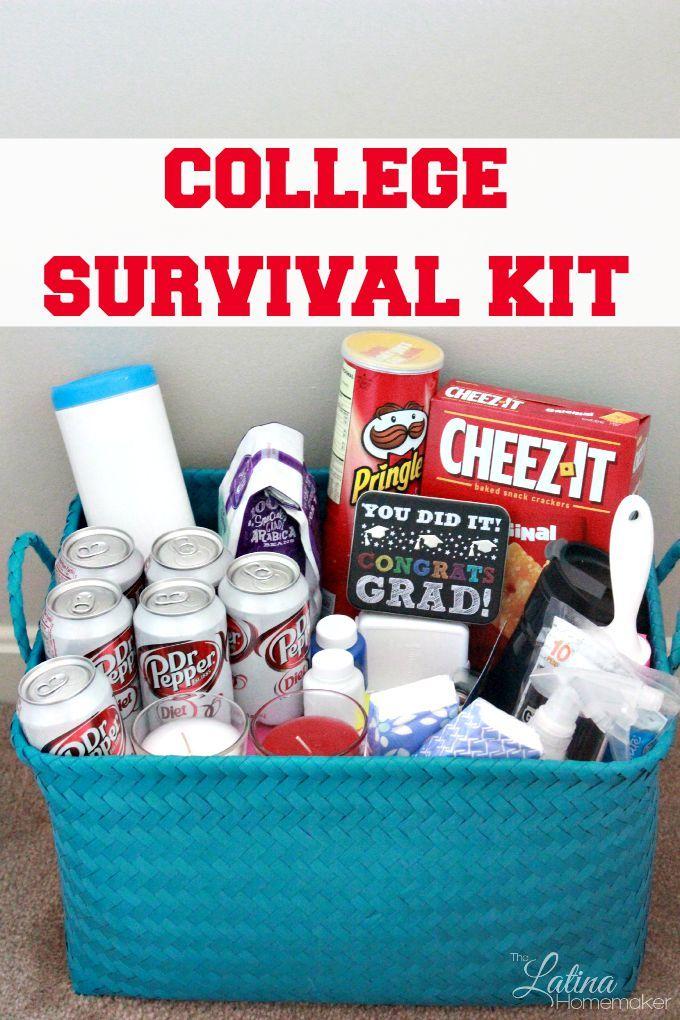 College student survival kit perfect for graduating seniors college survival kit free expense tracker negle Images