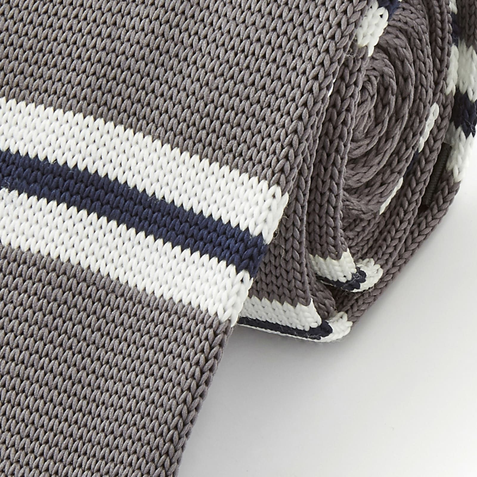 Photo of Grey & Blue Knitted Tie | In stock! | Tailor Toki