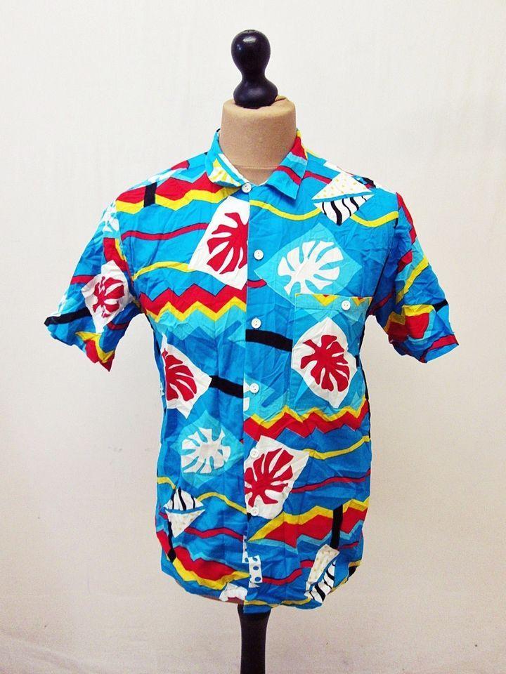 Retro Hawaiian Indie Psychedelic Pattern Shirt Medium
