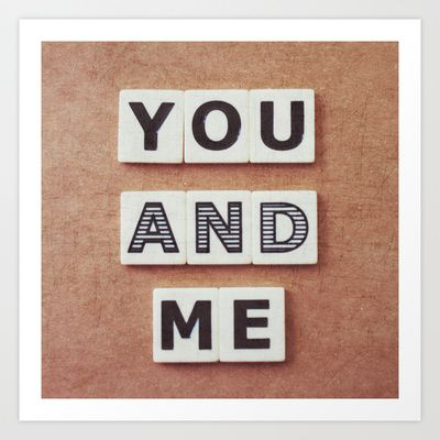 you and me Art Print by Beverly LeFevre