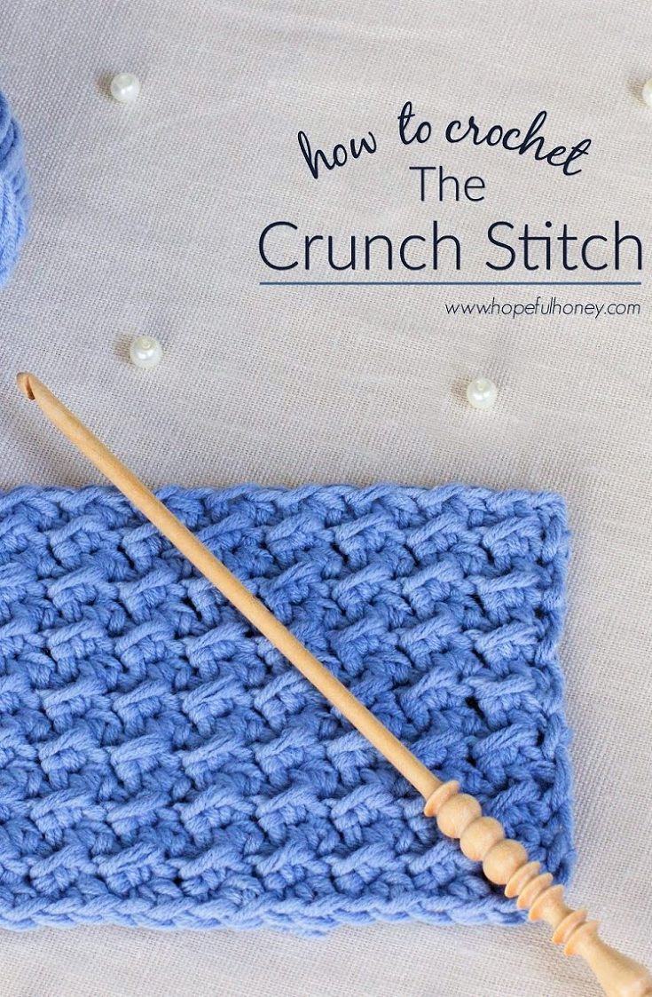 How To: Crochet The Crunch Stitch - Easy Tutorial | Häkelmuster ...