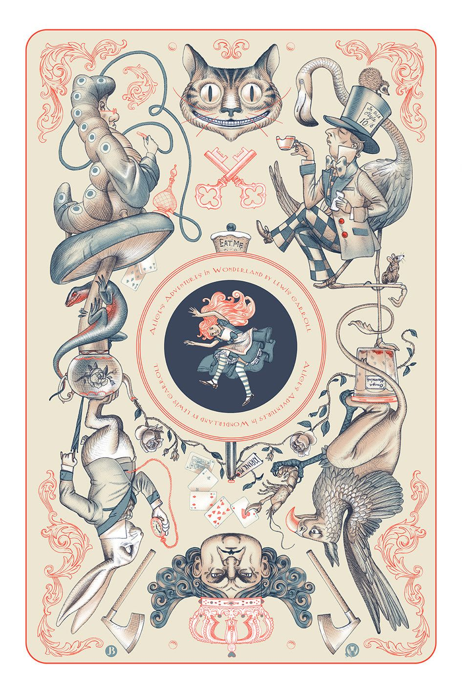 Aliceus adventures in wonderland limited edition prints number