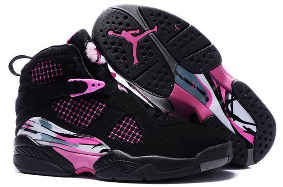 design intemporel 05dc9 d08d0 Womens Air Jordan 8 Black Pink Shoes | Chaussures | Shoes ...