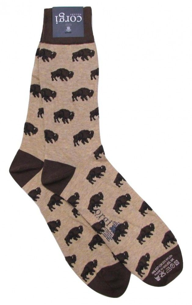 7f2f2946 Cotton mid-calf Corgi for O'Connell's Buffalo Socks - Chocolate on ...