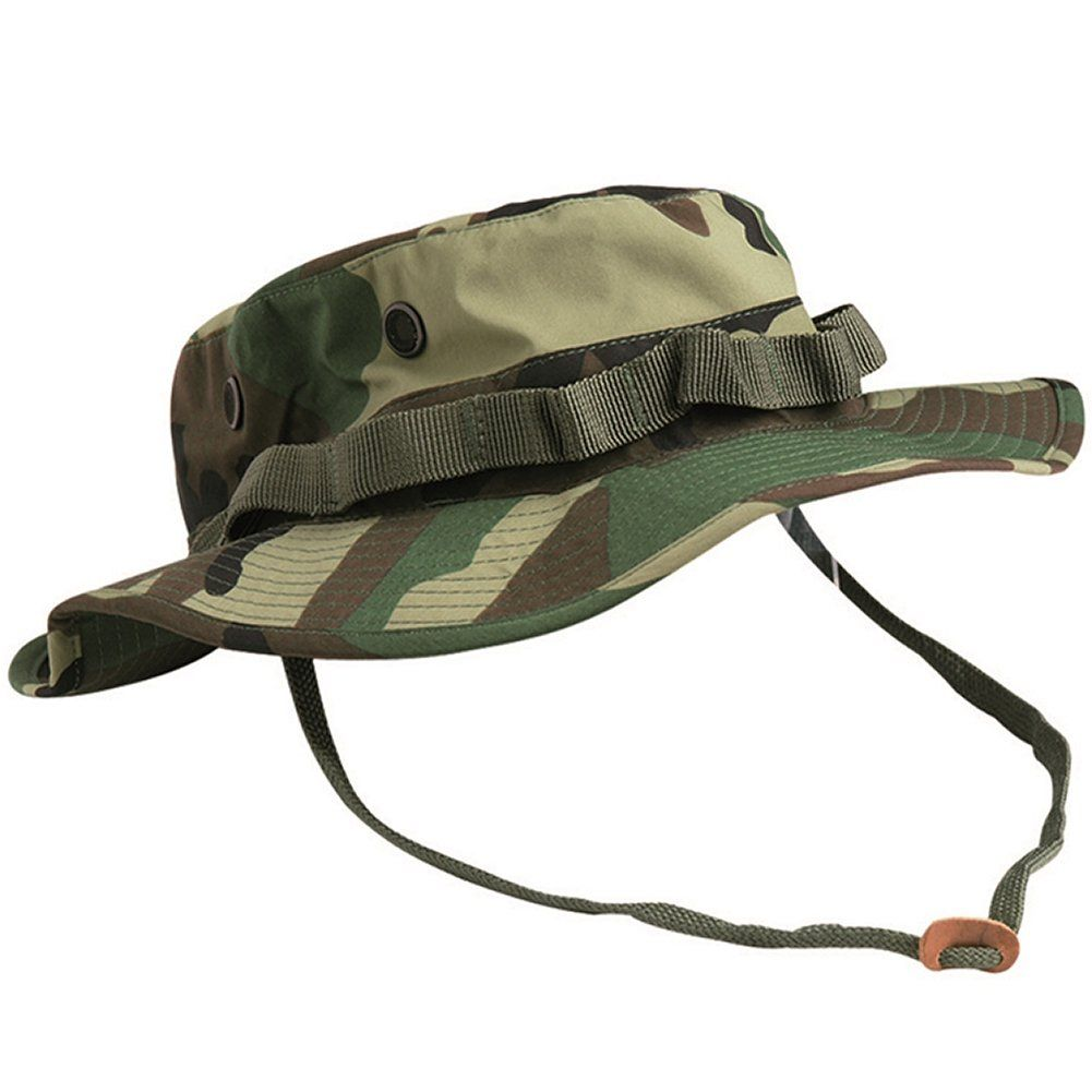 Teesar US GI Trilaminate Boonie Hat Woodland size XXL. Waterproof and  breathable construction. Durable 3c506960475