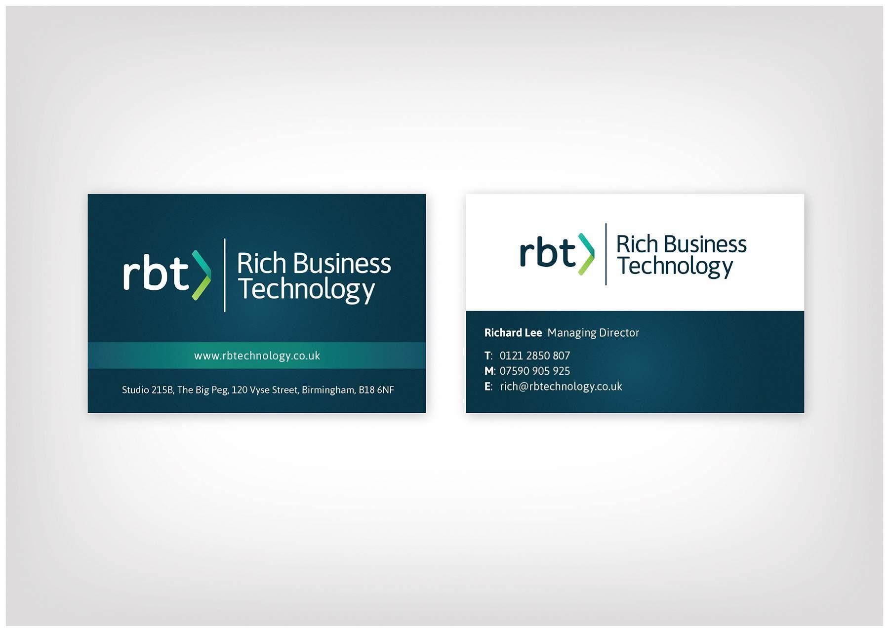 rich business technology business cards design