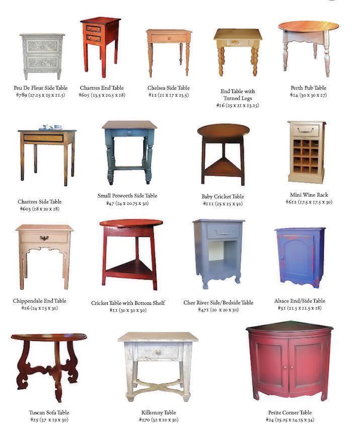 British Traditions Side Tables Baby Cricket Table 25x25x30 #111