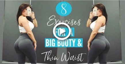 8 EXERCISES FOR BIG GLUTES & A THIN WAIST | Hourglass Figure Workout! #fitness