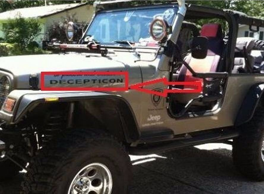 Decal Sticker For Jeep Wrangler Kit Decepticon Radiator Seal