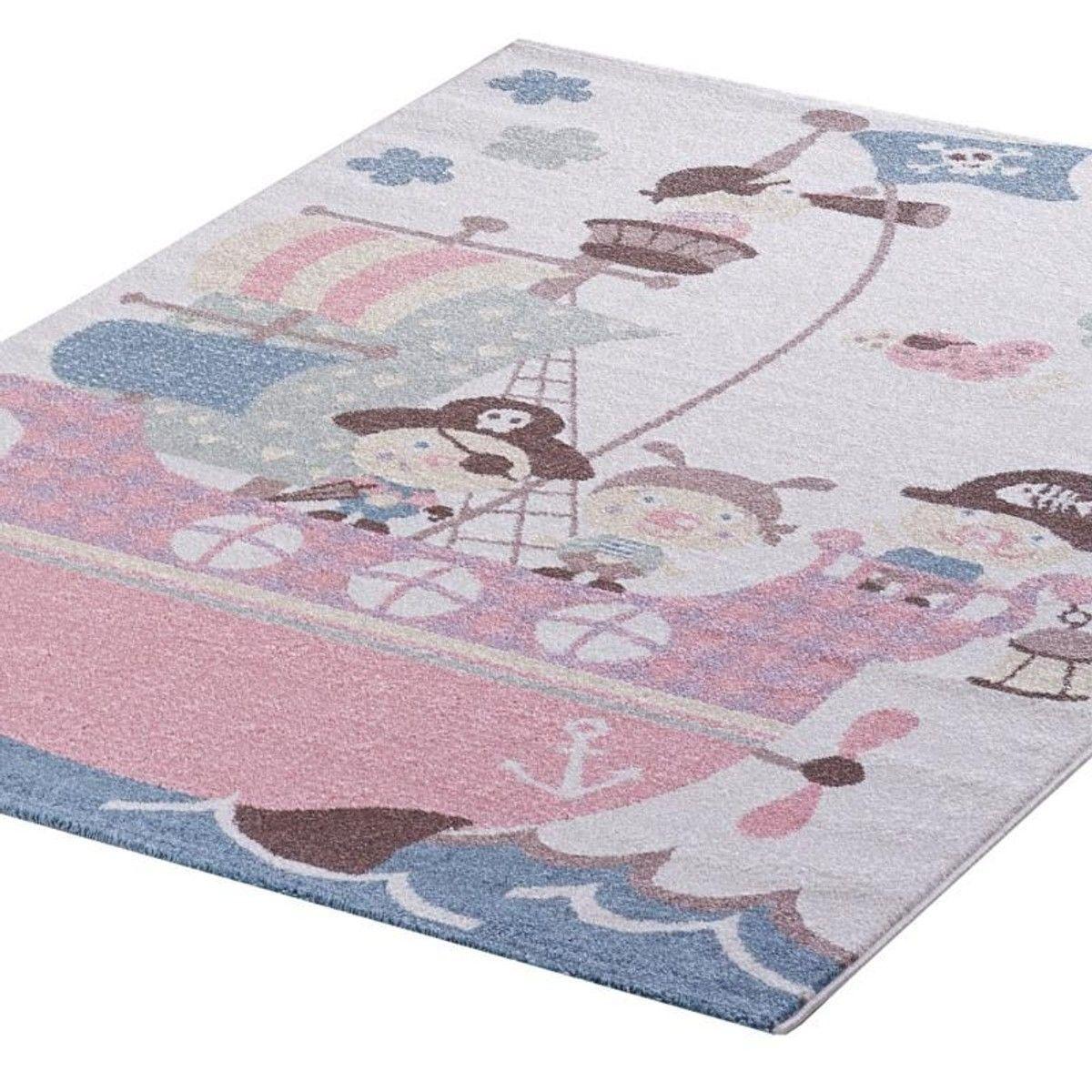 Tapis Enfant Bateau Pirate Pastel Taille 200x290 Cm 080x150 Cm 120x170 Cm 160x230 Cm Tapis Enfant Tapis Tapis De Jeux