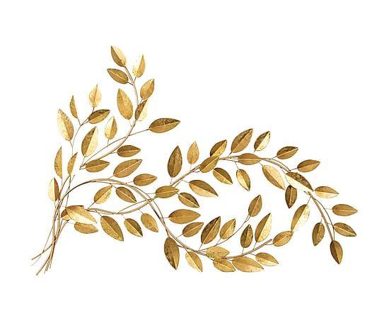 adornos pared metal decoraci n de pared en metal hojas dorado etxerako decoraci n de unas decoracion de pared