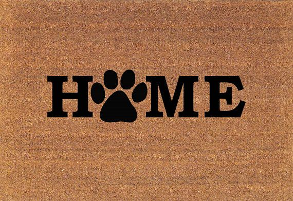 Home Paw Print Door Mat, Dog Cat Paw Coir Doormat Rug These Are Made To