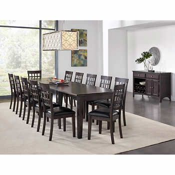 Bainbridge Ii 14 Piece Dining Set Dining Set Dining Table Dimensions 7 Piece Dining Set