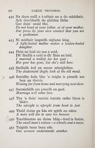 Gaelic proverbs from the National Library of Scotland   Scottish