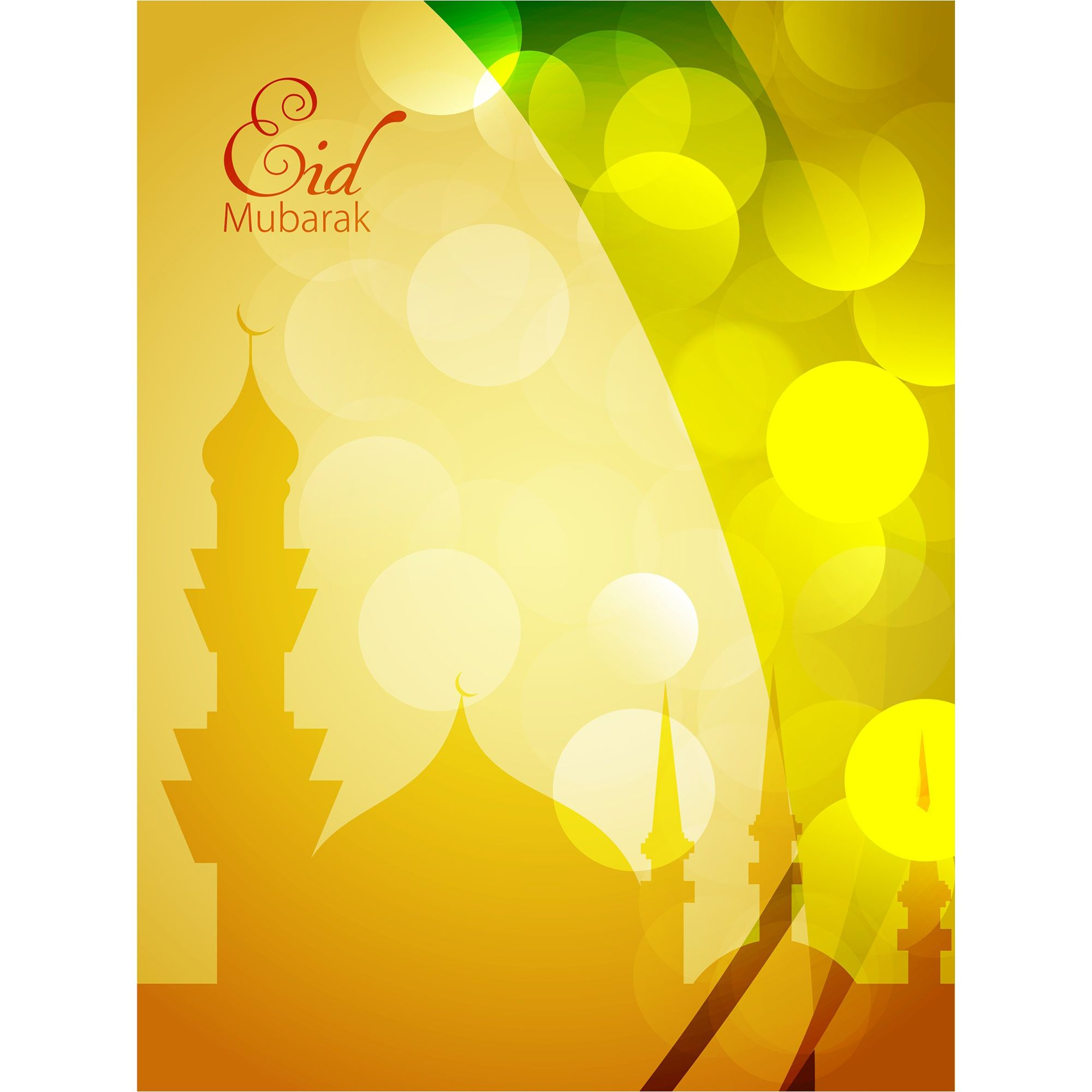 eid mubarak greeting card with yellow background eid mubarak greeting cards eid mubarak greetings free vector graphics eid mubarak greeting card with yellow