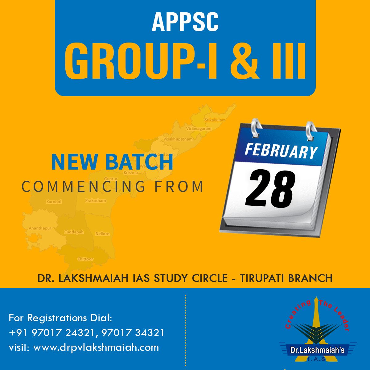 New Batch For Appsc Group 1 3 Commencing From 28th February 2017 At Tirupati Branch For Registrations Dial 91 97017 243 Study Online Classes Training Center