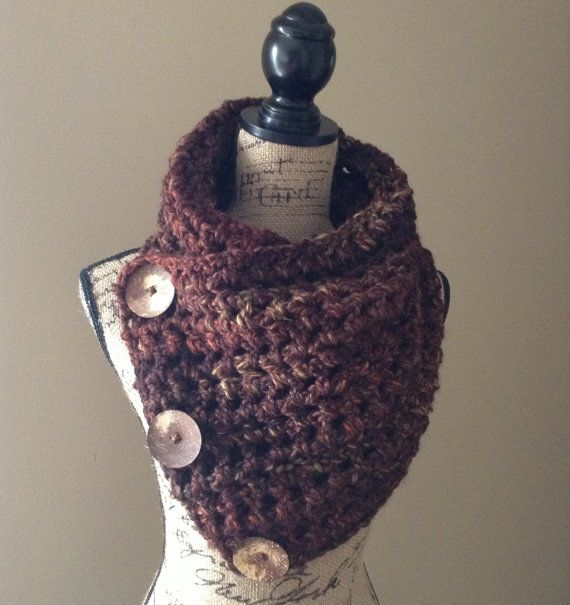 Sequoia Buttoned Crochet Cowl $55 | My Style Pinboard | Pinterest ...