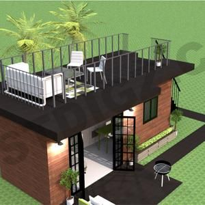 Shipping Container Studio Apartment Tiny Home Construction Plans Airbnb Floor Plan Architectural Designs DIY Container Home Building Plans