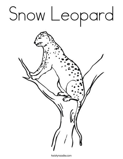 Snow Leopard Coloring Page Animal Coloring Pages Coloring Pages Leopard Art
