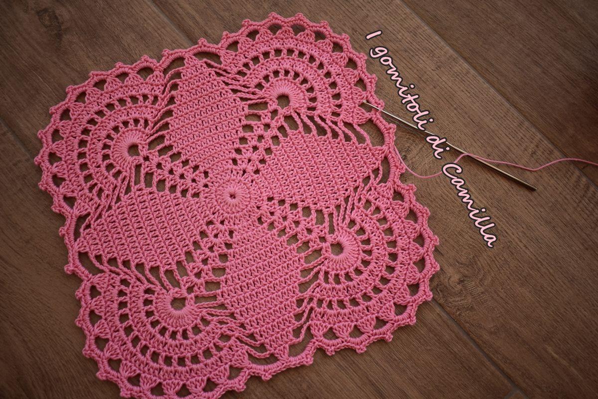 Piastrella a uncinetto con losanghe: i tutorial di camilla crochet