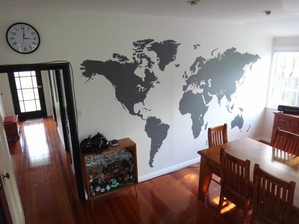 Extra large world map vinyl wall sticker vinyl wall stickers wall extra large world map vinyl wall sticker in by vinyl impression gumiabroncs Images