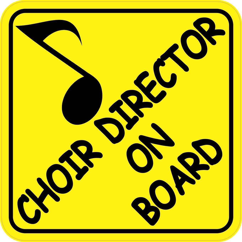 Bumper sticker design tips - 6in X 6in Choir Director On Board Music Bumper Sticker Decal Window Stickers Decals