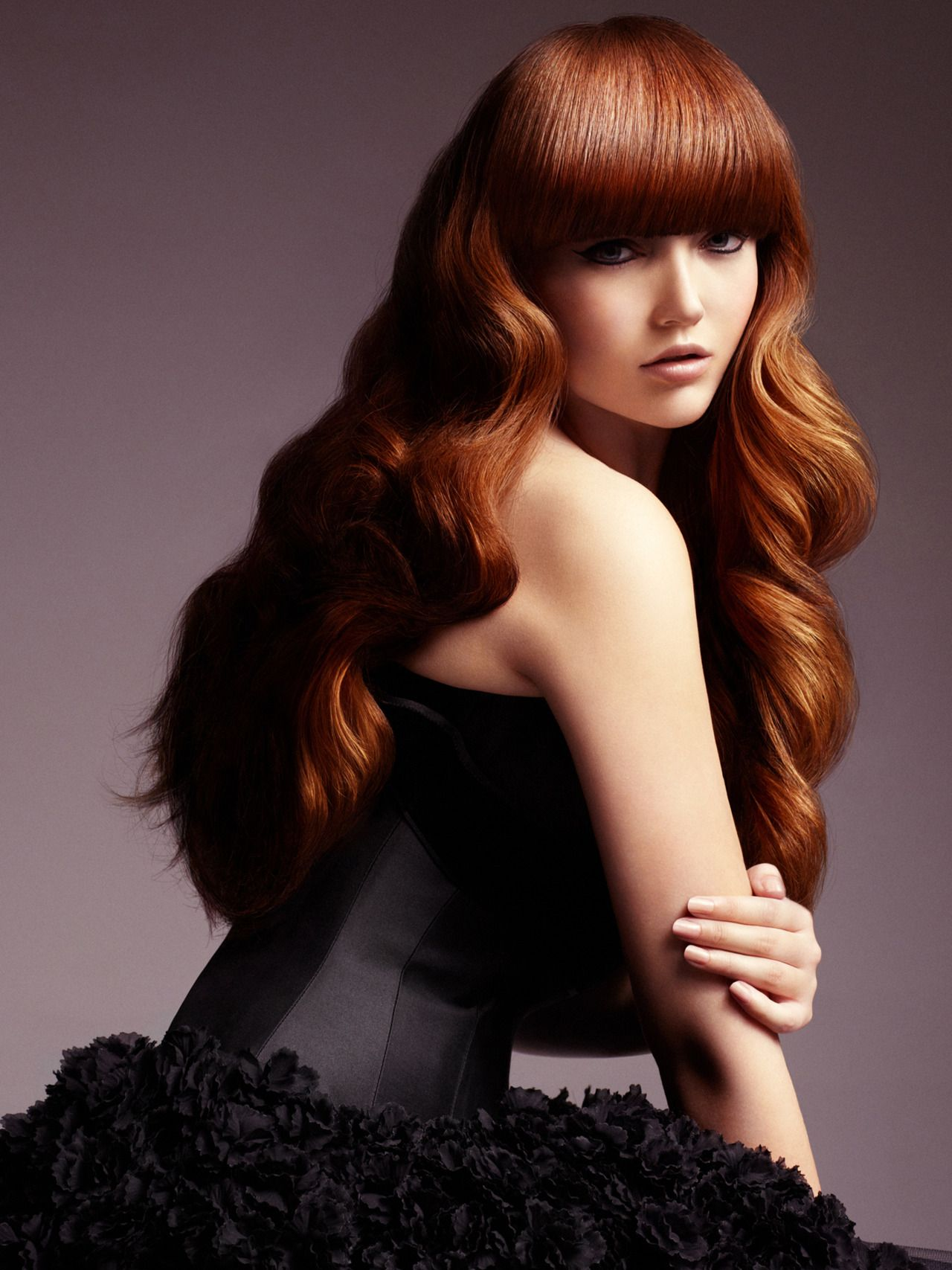 Hot Red Wig; Waist Length; Straight Hair | Synthetic lace