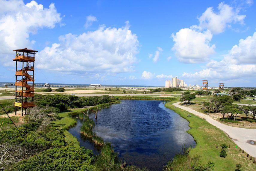 Zip Lining Gulf Adventure Center At State Park Ss Al Gulfssplantation Fun