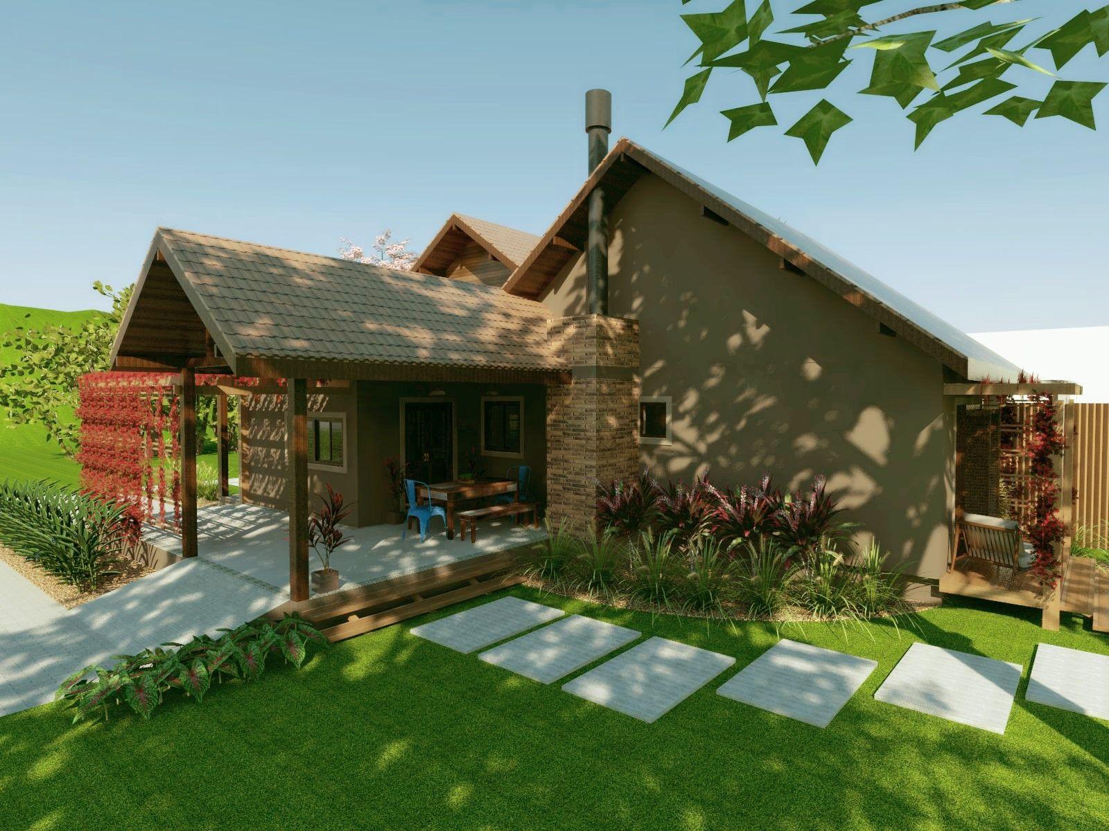 Casa de campo casa na serra casa em estilo r stica casa em for Casas de campo rusticas