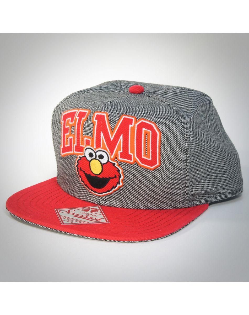 87d384806b10b Elmo Arched Word Snapback Hat