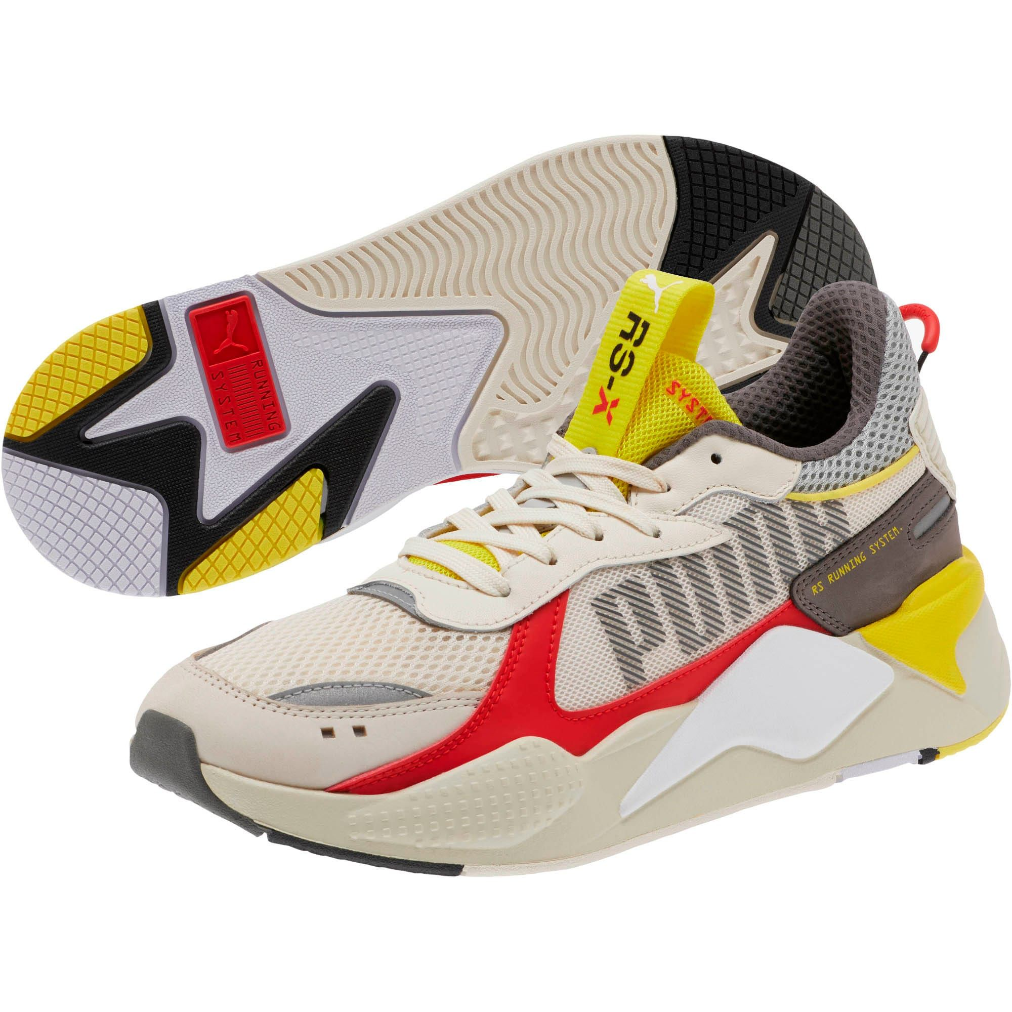 PUMA RsX Bold Trainers in Whisper White/High Risk Red