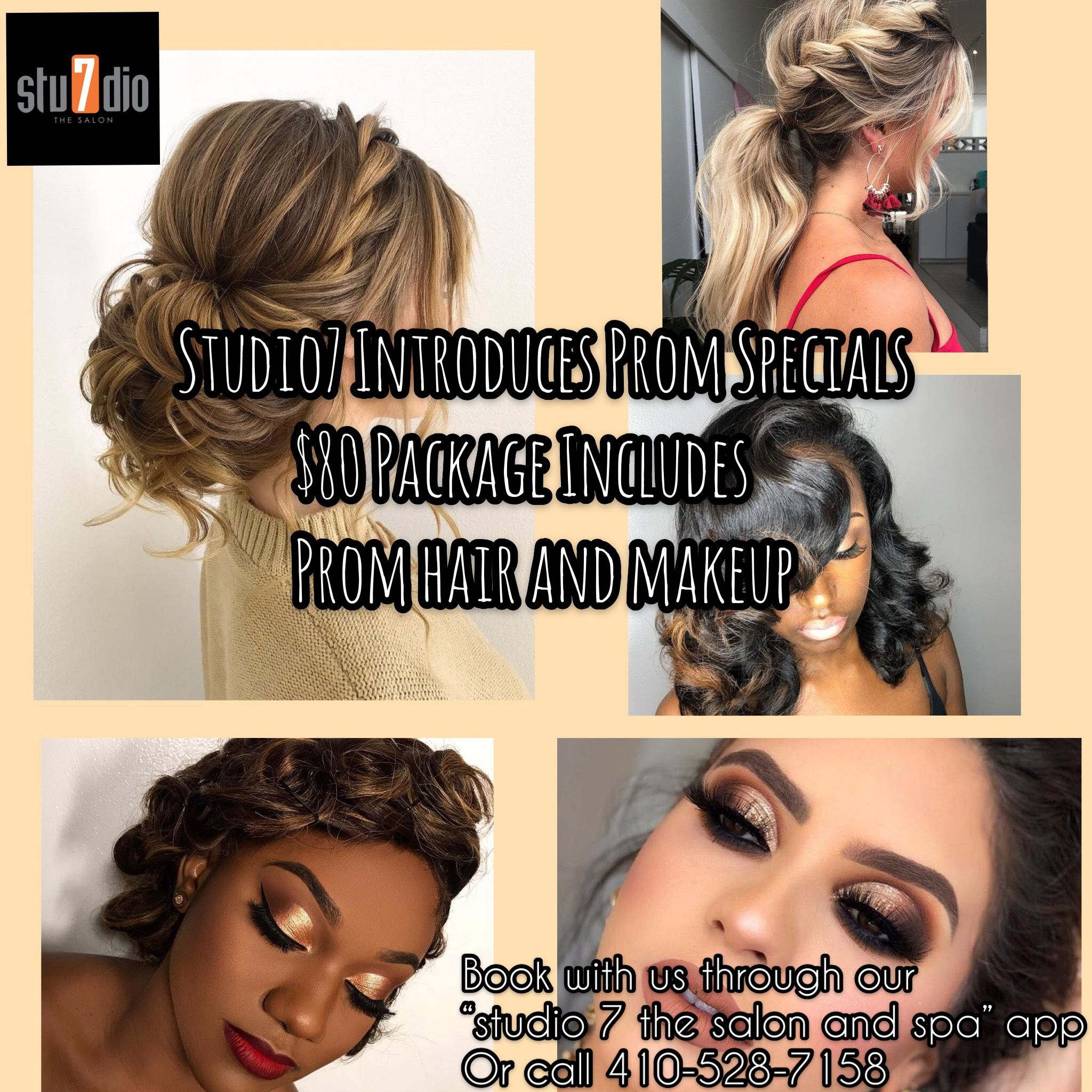 Have The Best Look At The Prom With Our Prom Hair Makeup Package In 2020 Prom Hair Spa Salon Makeup Services