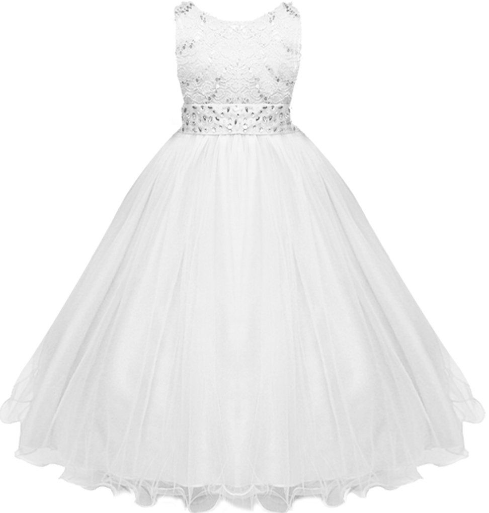 Long dresses for wedding party  Big Girls Sequins Laces with Glitters Wedding Flower Long Dress