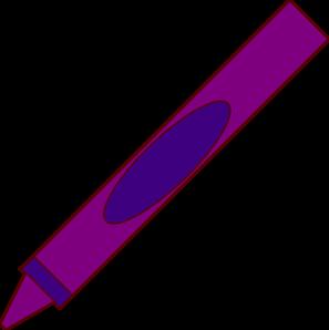 Purple Crayon Crayon Clip Art Vector Clip Art Online Royalty Free Public Domain Clip Art Purple Crayon Crayon