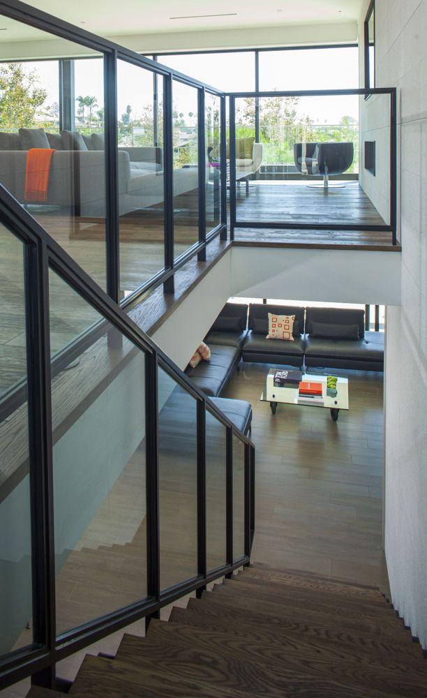 A Scenario Modular sofa from Roche Bobois is located in the lower level.