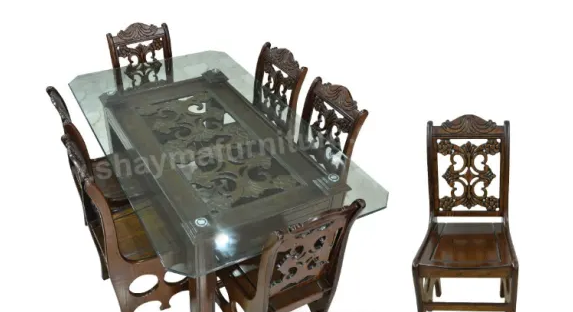Dining Table Chair Code Dit 26 6 Chair 1 Table Materials Malaysian Proccessing Wood Mdf Price 25500 Dining Table Dining Table Chairs Table And Chairs