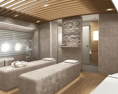 Aviation Giant Designs Wellness Themed Aircraft Interior With On