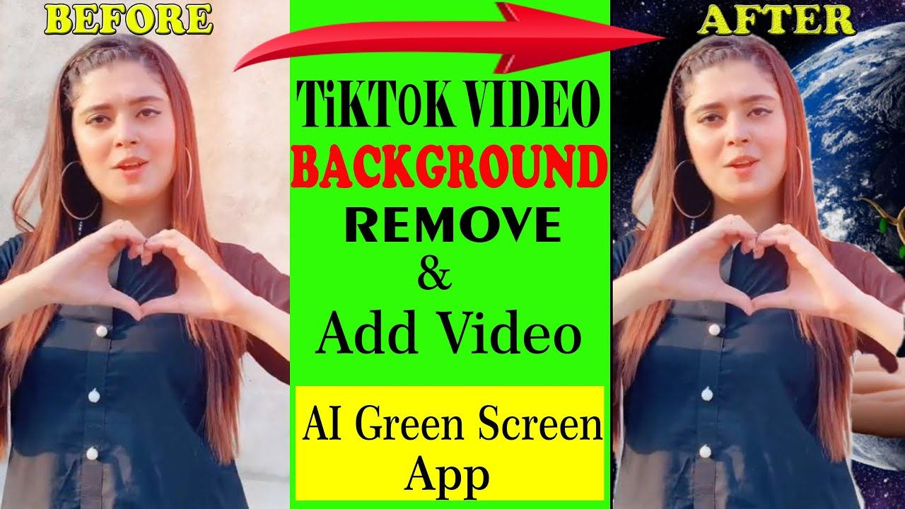 Tiktok Videos Background Remove Add New Background Video Ai Green Sc Greenscreen Video Background How To Remove