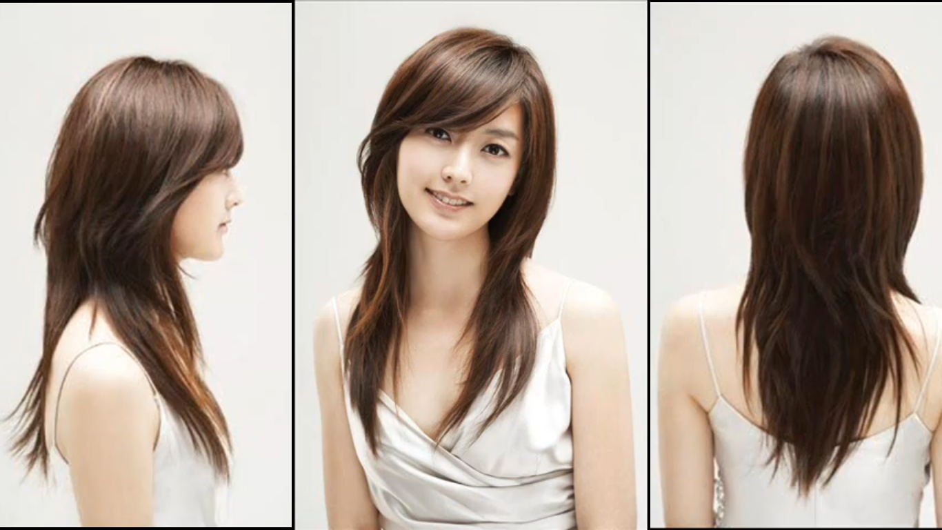 Side Swept Bangs And Long Layers Oval Face Haircuts Oval Face Hairstyles Long Layered Hair