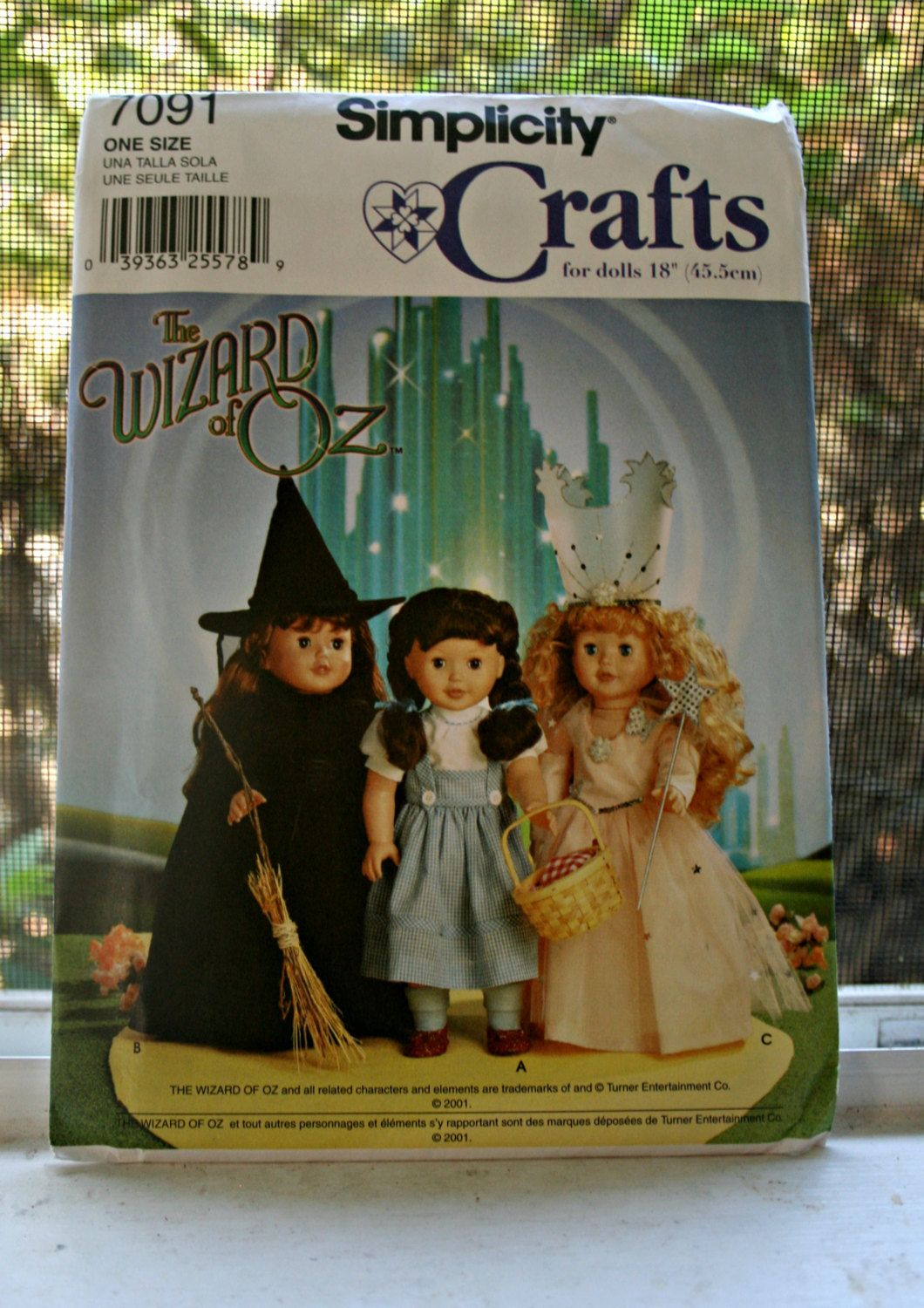 Wizard of Oz American Girl Doll Pattern Simplicity 7091 UNCUT ...