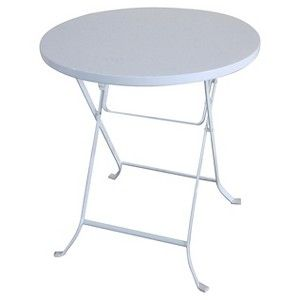 "Threshold™ 24"" Metal Folding Table White"