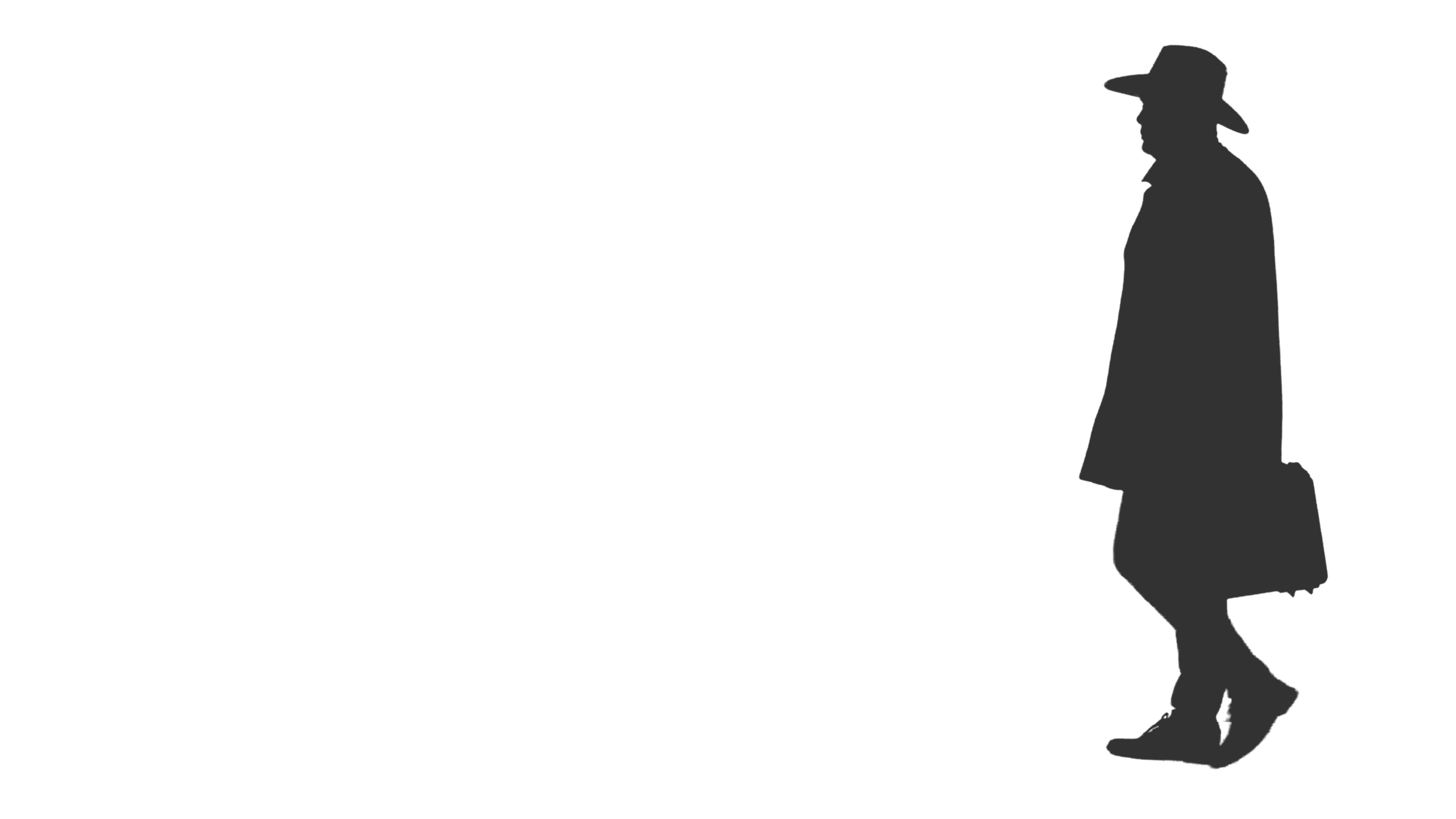 fa8f7cdf Silhouette of a man in cowboy hat walks with case, 4k footage with alpha  channel Stock Footage,#hat#walks#cowboy#Silhouette