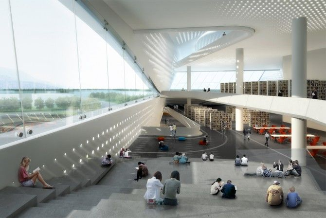 An Amazing And Ultra Modern Library Concept Library Of The