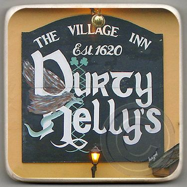 Durty Nelly's, Bunratty, Co. Clare, Ireland, Marble Coaster.