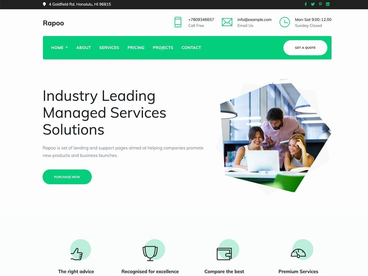 Responsive Web Design Html Template Free Download New Best Responsive Html5 Boot Responsive Web Des In 2020 Business Template Best Landing Pages Webpage Template