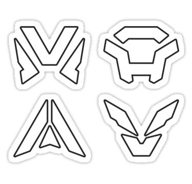 Javelin Symbols Anthem Game Emblems Clean White Logo Sticker By Surik Game Emblems Anthem Game Logo Sticker