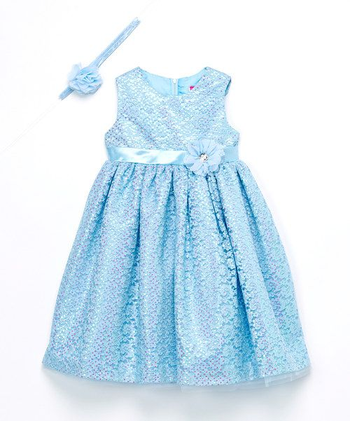 Look at this Light Blue Floral Cinderella Dress & Headband - Toddler & Girls on #zulily today!
