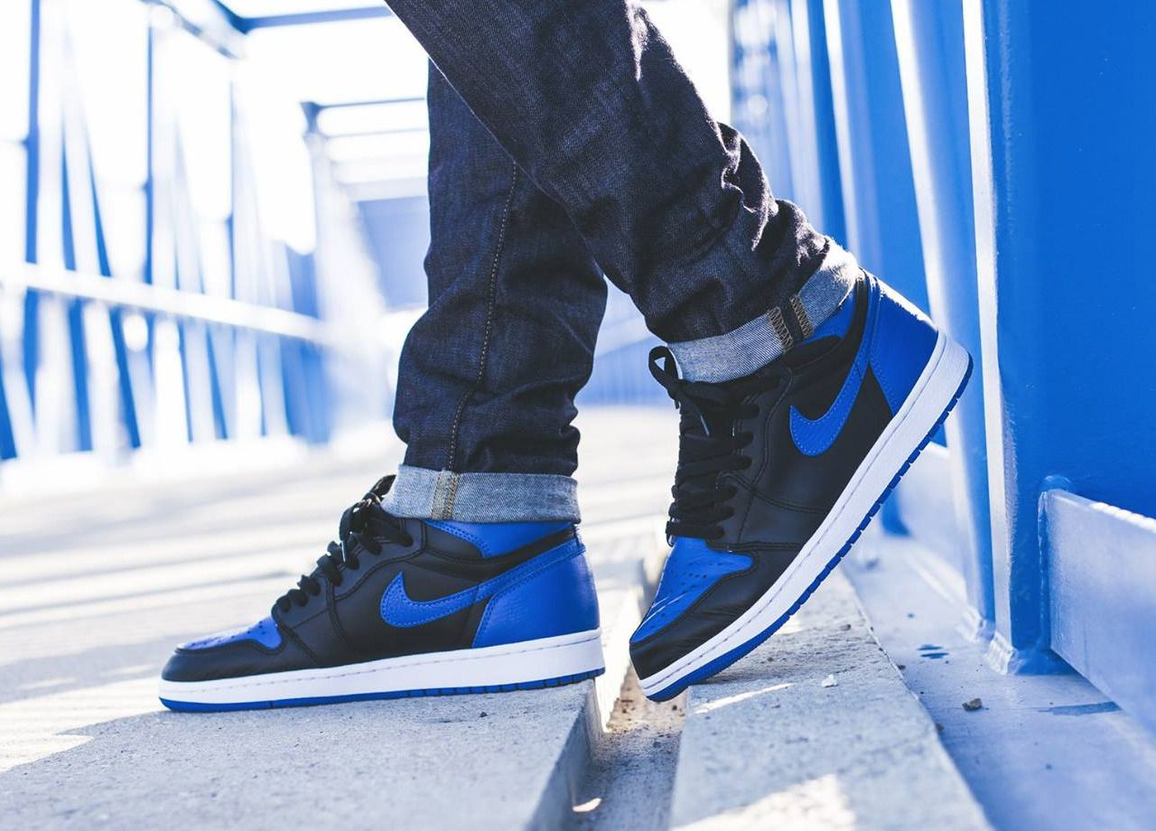 best quality cf159 7274e Nike Air Jordan 1 Retro High - BlackRoyal Blue (by barbenoire) A  quality pair of shoe trees by Sole Trees are a perfect fit for your  sneakers ShoeTree ...
